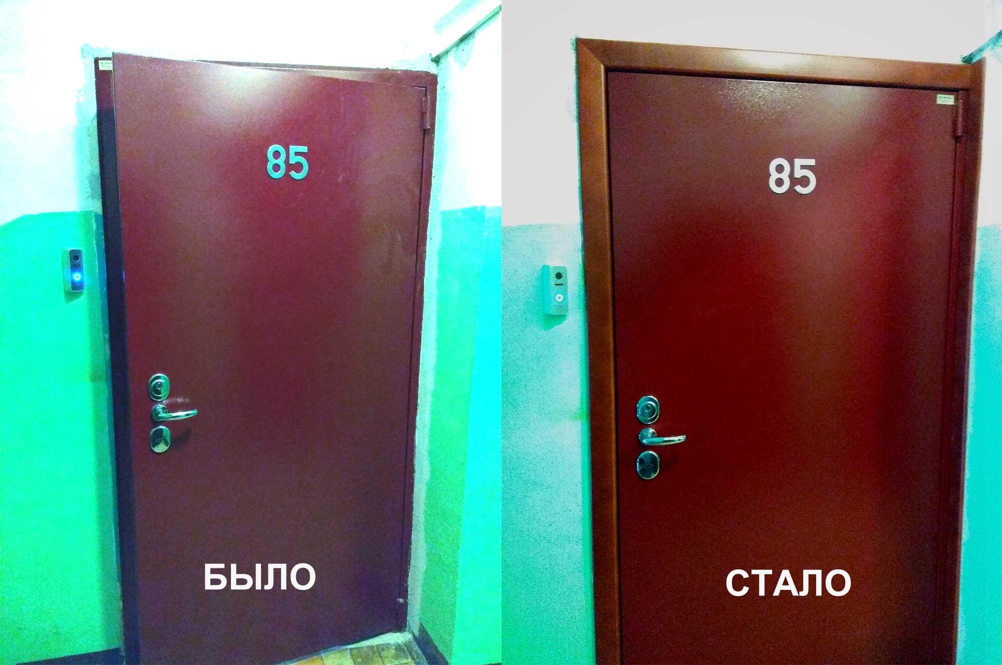 Наличники на входную дверь